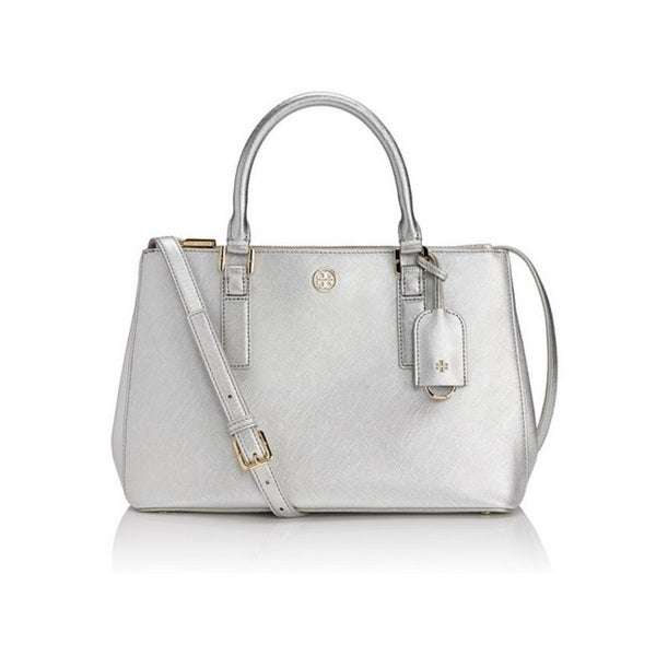 Tory Burch Robinson Metallic Mini Double-Zip Tote Bag