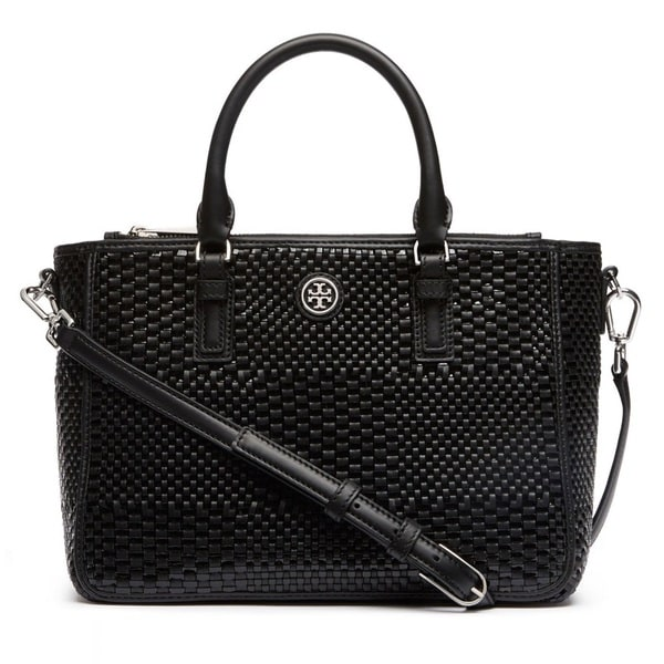 Tory Burch Robinson Woven Small Multi Tote Bag