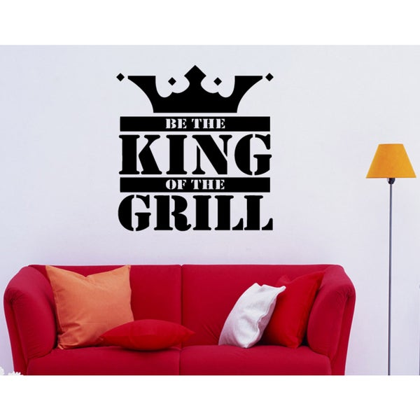 Crown King Of The Grill Wall Art Sticker Decal