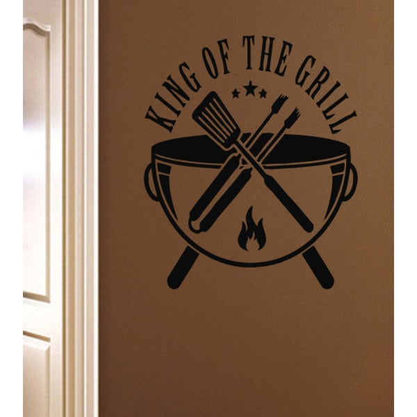 For kitchen King Of The Grill Wall Art Sticker Decal