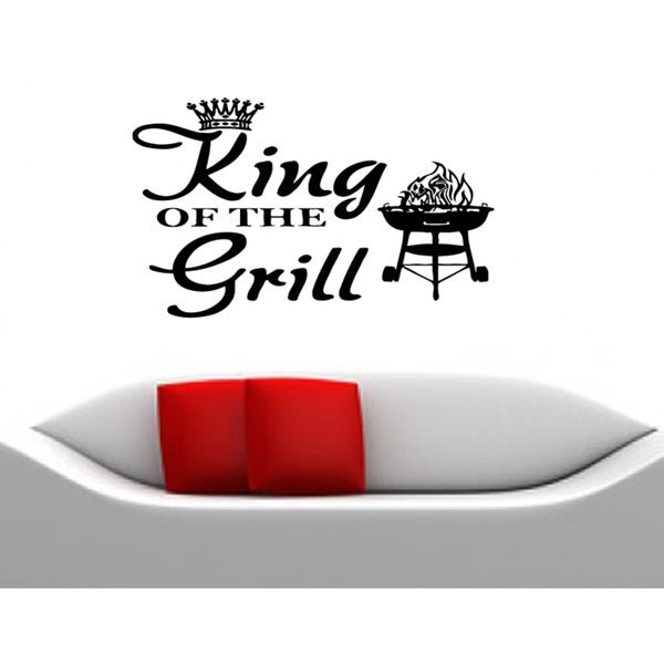 Phrase cookery King Of The Grill Wall Art Sticker Decal
