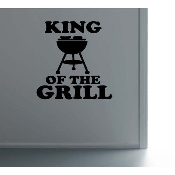 Cookery King Of The Grill Wall Art Sticker Decal