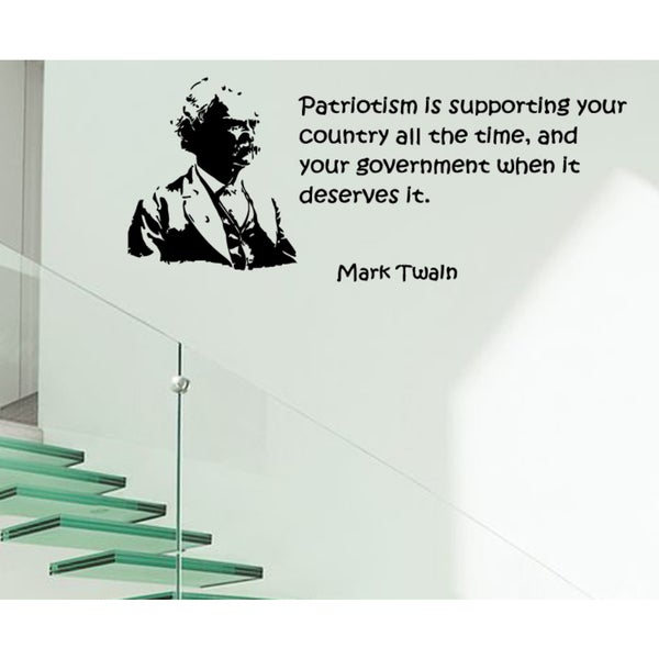 Patriot quote and the phrase Wall Art Sticker Decal