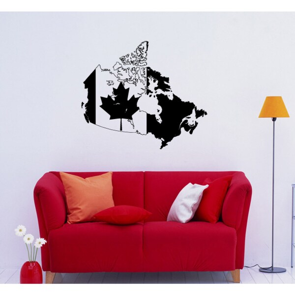 Canada flag Wall Art Sticker Decal