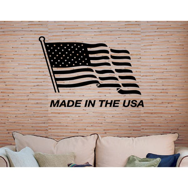 The words Made in the USA Wall Art Sticker Decal