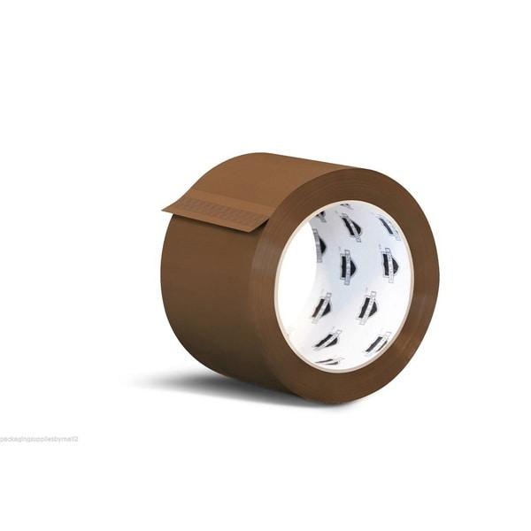 Hotmelt Tan Box Packing Tape 3-inch x 110 Yards 2.5 Mil 240 Rolls (10 Cases) 18052814