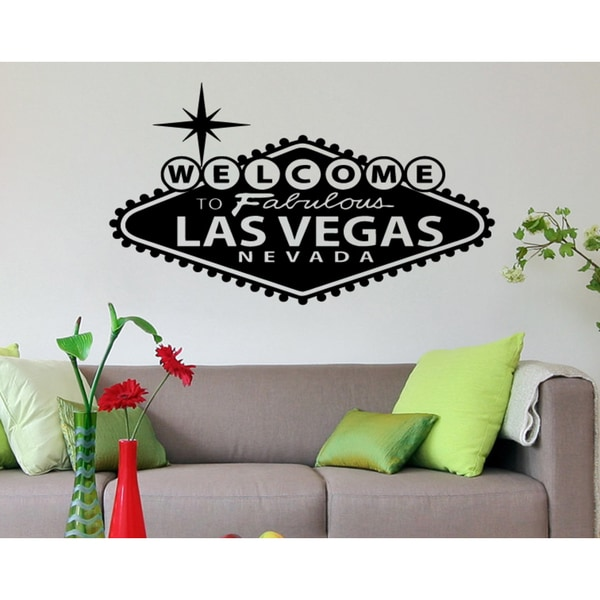 The words Fabulous Las Vegas Wall Art Sticker Decal