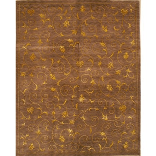 Hand-knotted Fine Nepal Weave Area Rug (4' x 6')
