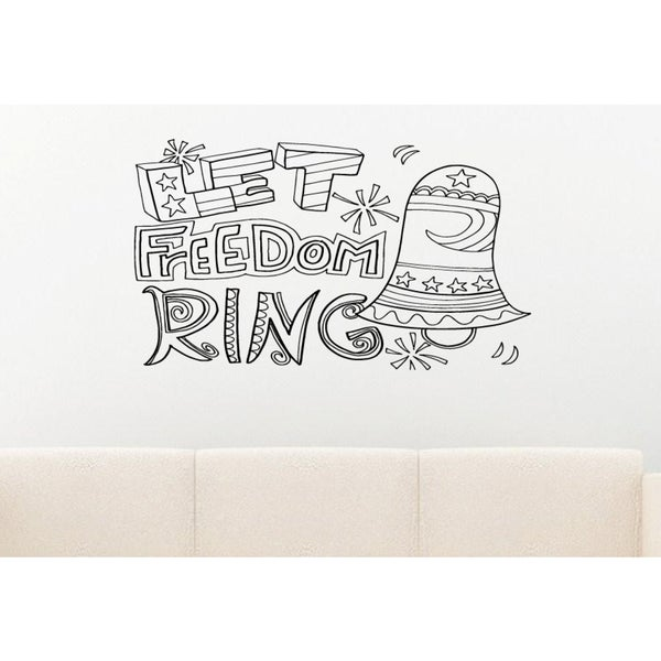 Let Freedom Ring Quote Wall Art Sticker Decal