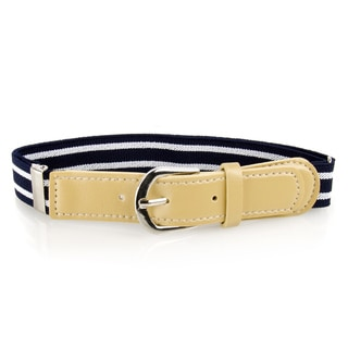 Crummy Bunny Navy Striped Adjustable Elastic Waist Belts