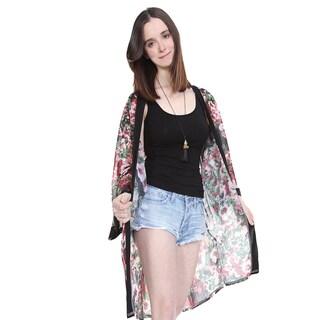 Feria Mode Floral Print Kimono