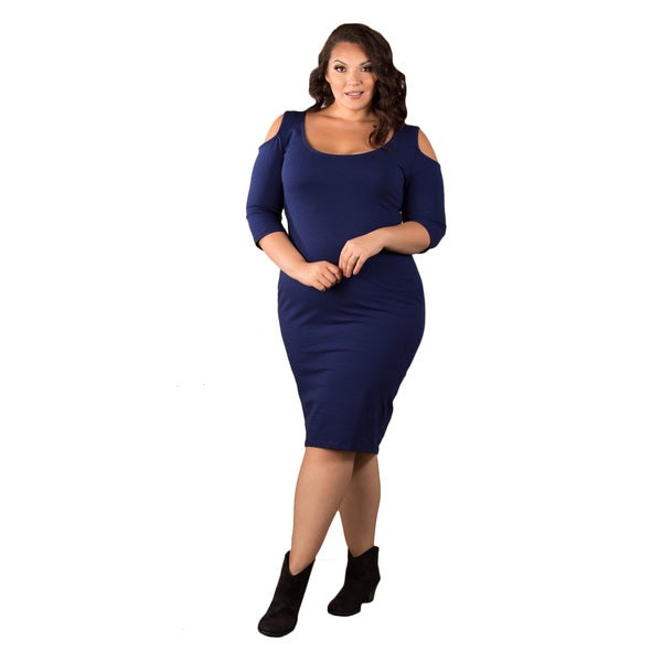 Sealed with a Kiss Women's Plus Size Ivy Cold Shoulder Body Con