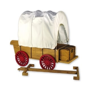 The Queen's Treasures Officially Licensed Little House on the Prairie 18-inch Doll Covered Wagon