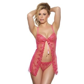 Popsi Lingerie Playful Hot Pink Babydoll with Matching Panty