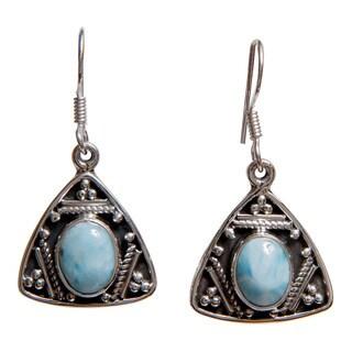 Artisan-made Sterling Silver Gemstone Earrings (India)