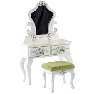 The Queen's Treasures American Victorian Vanity Table and Stool Fits18-inch Girl Doll Furniture and Accessories