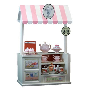 The Queen's Treasures Interchangeable Royal Tea Room Shoppe with Counter Register and Tea Shop Signs Fits 18-inch Girl Doll