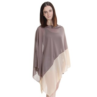 Feria Mode Two Tone Color Block Cover-up