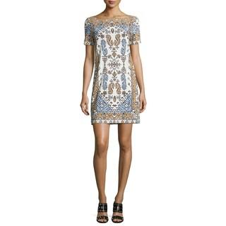 Tory Burch White Tile Print Mini Dress