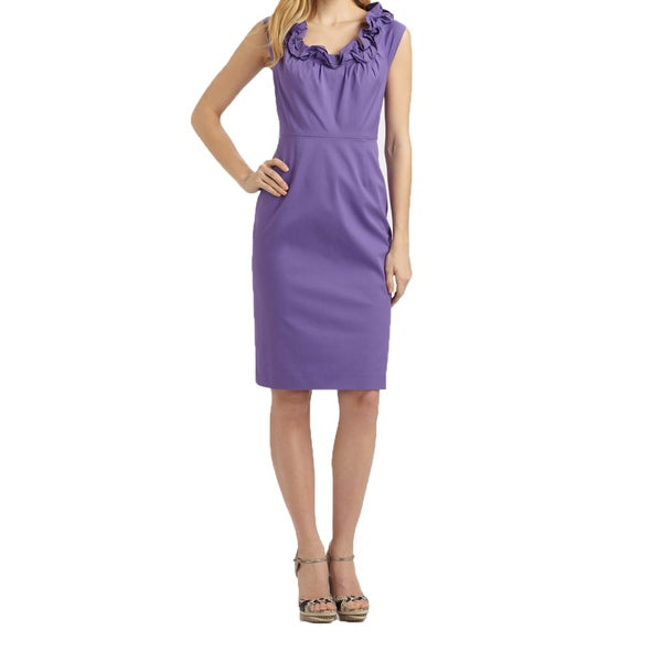 Elie Tahari Roxanna Purple Dress -  fashion habits llc