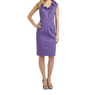 Elie Tahari Roxanna Purple Dress