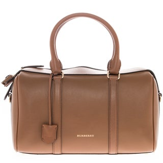Burberry Alchester Medium Smooth Brown Leather Bowler Bag