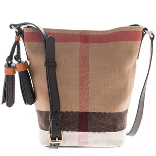 Burberry Ashby Small Canvas Check and Leather Crossbody Bag