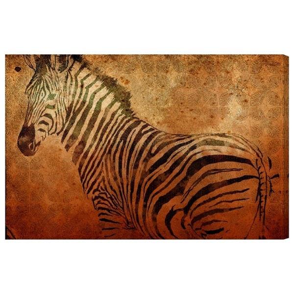 Canyon Gallery 'Savanna Zebra' Canvas Art
