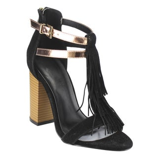 Beston Fringe T-Strap Sandals