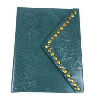 Handcrafted Nailhead Journal in Teal (India)