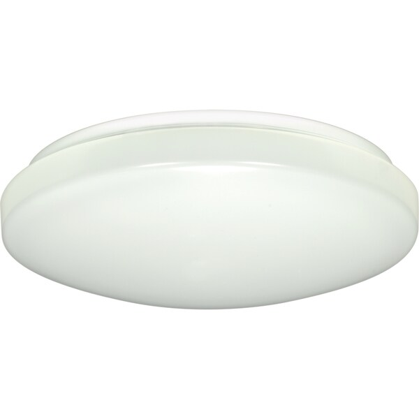 1-Light 11-inch Flush Mounted LED Light Fixture with Occupancy Sensor - White Finish