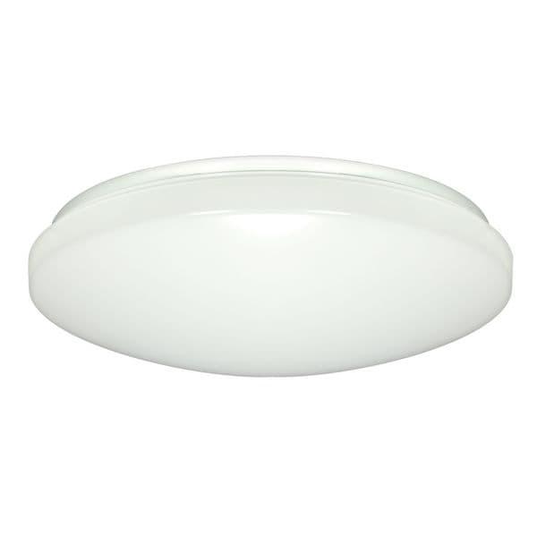 1-Light 14-inch Flush Mounted LED Light Fixture with Occupancy Sensor - White Finish