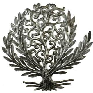 Handcrafted 14-inch Tree of Life Laurel Leaf (Haiti)