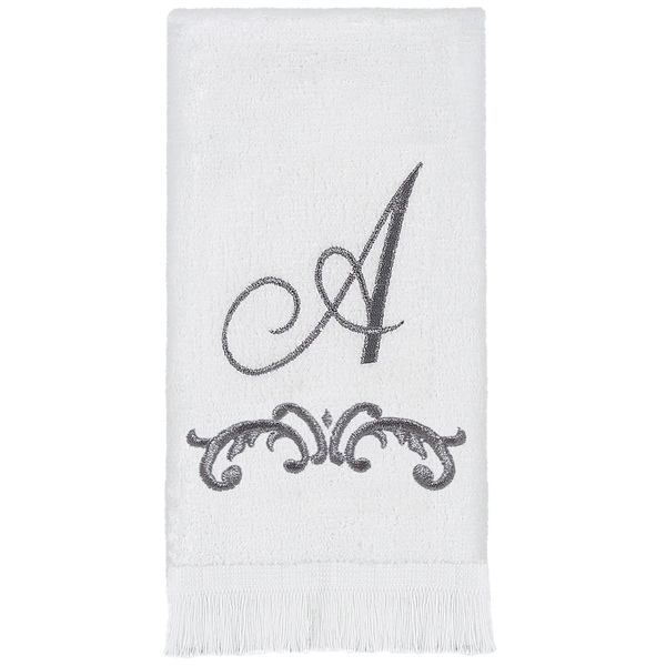 Scroll Monogram Fingertip Towel