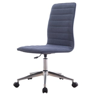 Prince Armless Office Chair in Blue