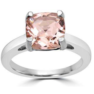 Noori 14k White Gold Morganite Solitaire Engagement Ring