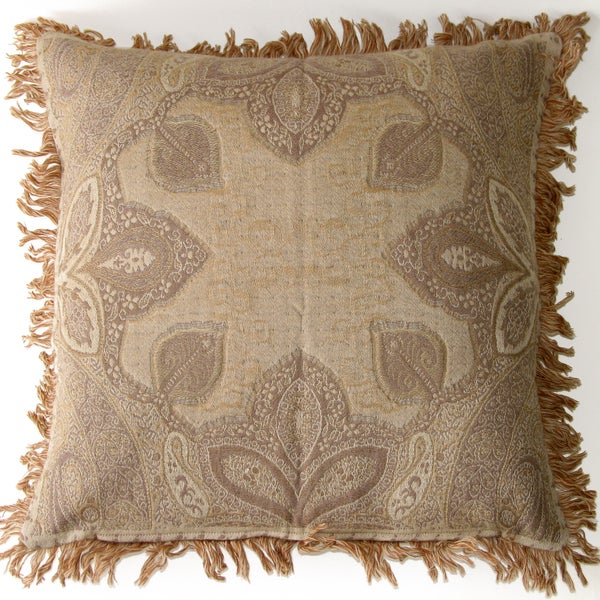 Boucle Humaira Ivory Wool Throw Pillow