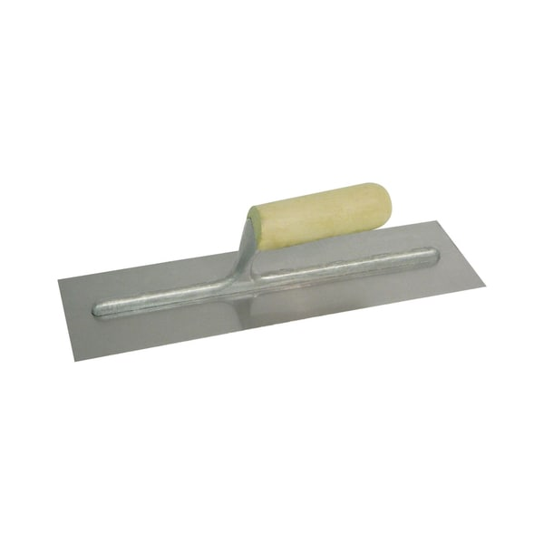 "QLT by Marshalltown 994S 14"" X 4"" Finishing Trowel With Wood Handle"
