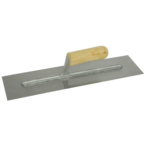 "QLT by Marshalltown 999S 16"" X 4"" Finishing Trowel With Wood Handle"