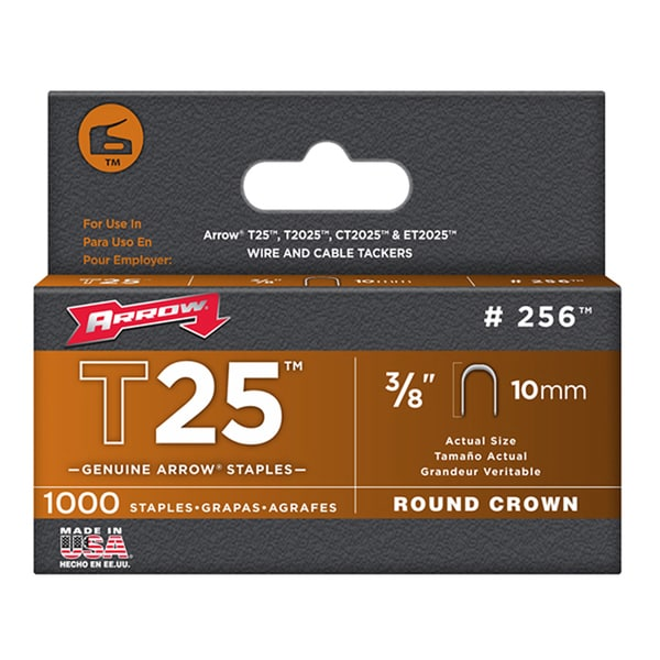 "Arrow Fastener 256 3/8"" T25 Staples"