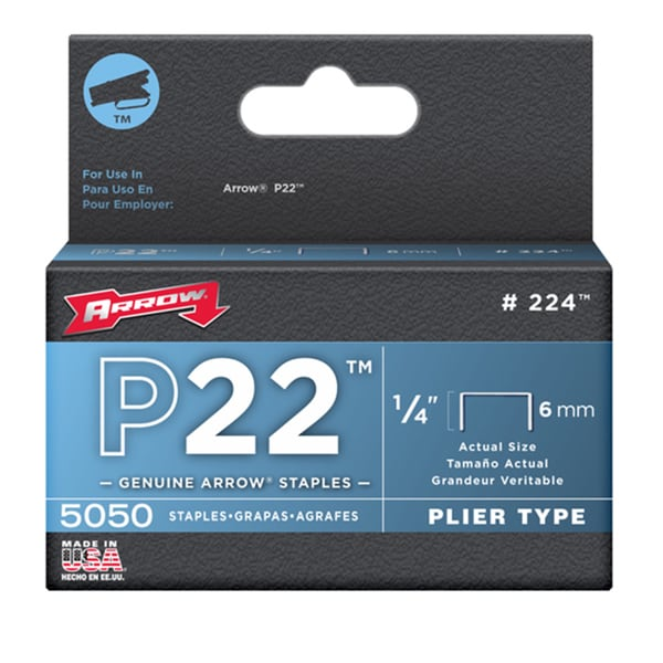 Arrow Fastener 224 1/4 P22 Staples