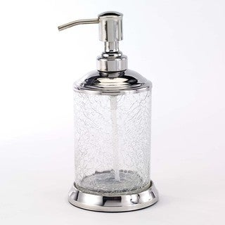 Crackle Glass Clear Lotion Pump