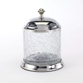 Crackle Glass Clear Canister