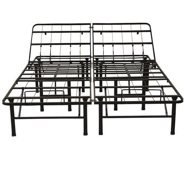 PostureLoft Adjustable 14-Inch Heavy Duty Metal Bed Frame/Mattress Foundation or Box Spring, Queen Size