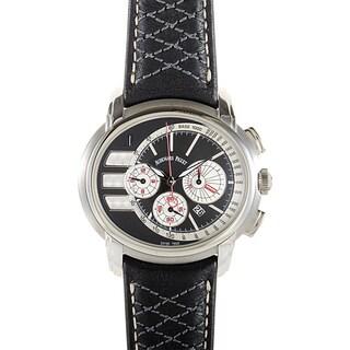Audemars Piguet Men's Black Leather Stainless Steel Millenary Tour Auto 2011 Chronograph Watch