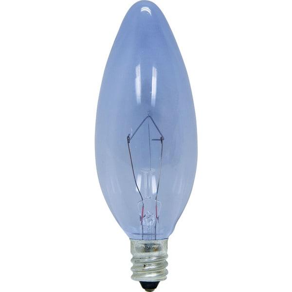 GE Lighting 48701 40 Watt Reveal Decorative Blunt Candelabra Bulbs 2-count