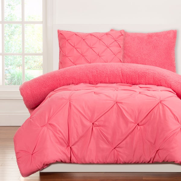 Crayola Playful Plush Pintucked 2-piece Twin Size Comforter Set in Cotton Candy (As Is Item)