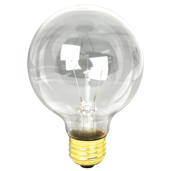 Feit Electric 40G25/DL 40 Watt Clear G25 Globe Light Bulb