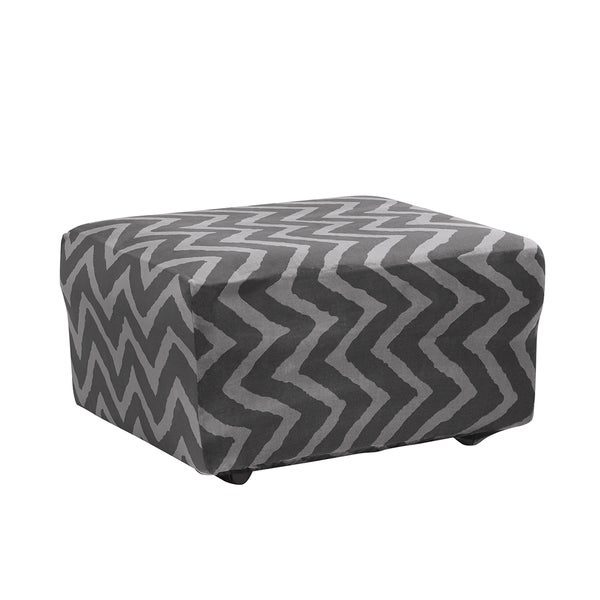 Sure Fit Stretch Plush Chevron Knit Ottoman Cover With Hem