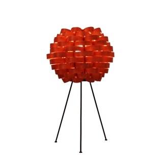 Bamboo Weave Carnation Retro Orange Lamp (Philippines)